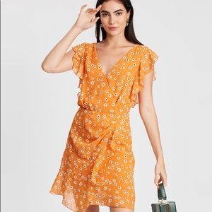 Mango Dalia Daisy floral ruffle mini dress 2